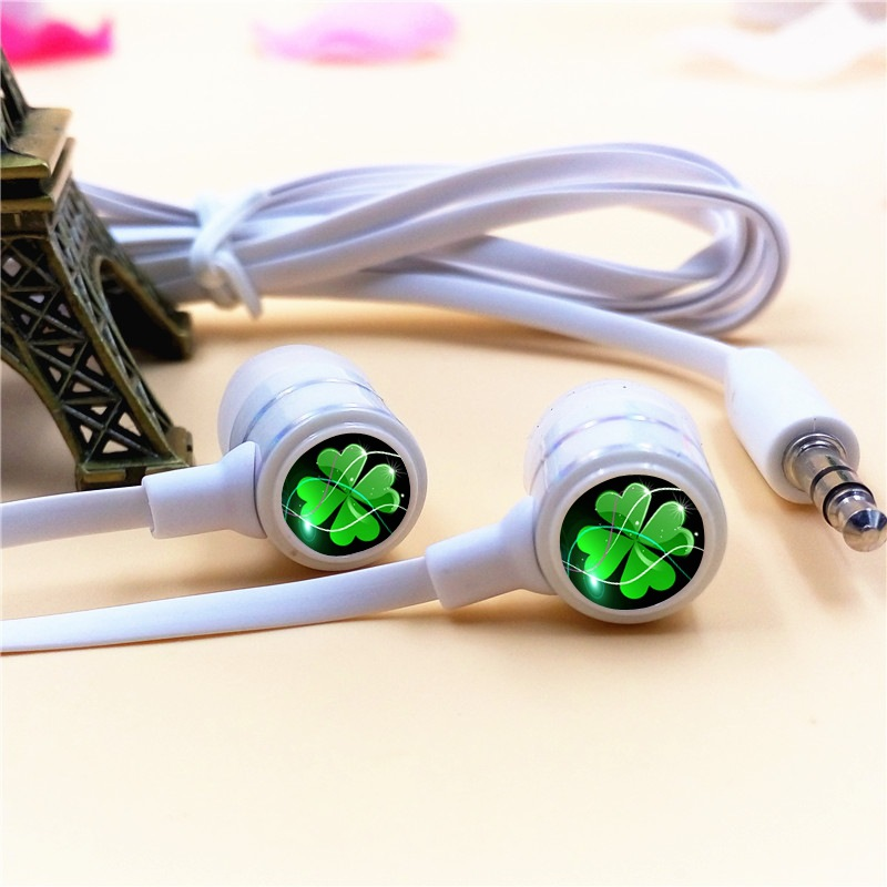 Valentine Gift Bunge Bedstraw Herb In-ear Earphones 3.5mm Wired Stereo Earbuds Phone Music Game Headsets for Iphone Samsung MP3