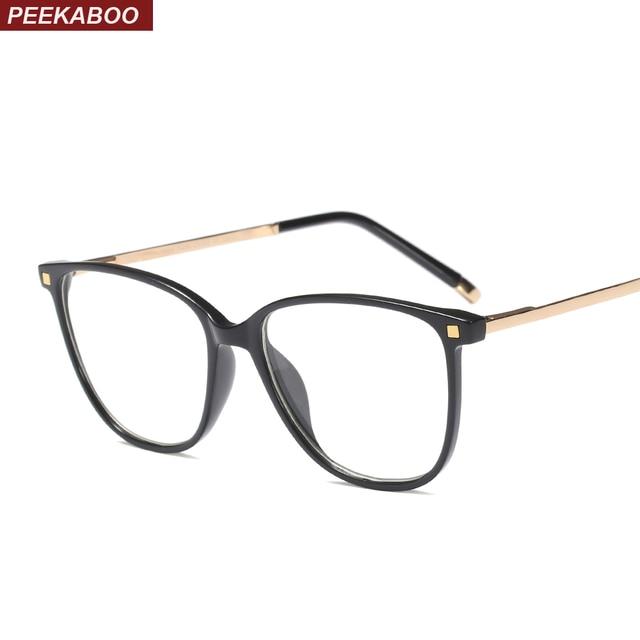 dc0395b3c5 Peekaboo black cat eye glasses frames for women 2019 accessories women  optical eyeglasses frames men square half metal