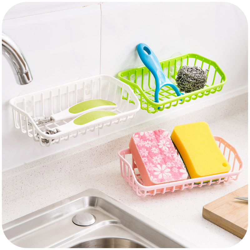 Quality Strong Suction Er Cup Holder Storage Basket Box Shelves Organizer Bathroom Kitchen Drain Sink Sponge Colors In Racks Holders From Home