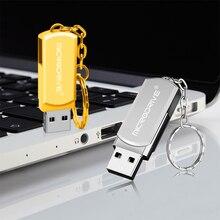 Silver/Gold Pendrive Metal Key Chain USB Flash Drive 64GB 32GB 16GB 8GB