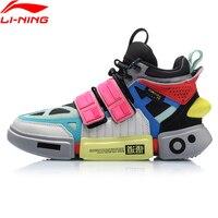 Li-Ning Для мужчин FW сущность ACE + Уэйд Культовая обувь из натуральной кожи Удобные внутри Спортивная обувь Кроссовки AGWP027 XYL243
