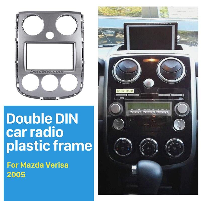 Seicane 2 Din Car Radio Fascia Installation Panel kit for 2005+ Mazda Verisa DVD Player Dash Mount Adaptor