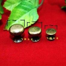 20Pcs 12mm*11mmSmall handle knob handles three types of antique drawer Pull handle single hole handle mushrooms