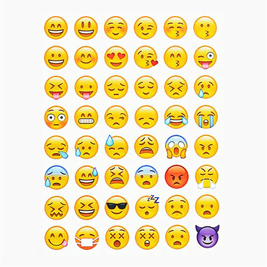 (1 Blatt/verkaufen) Schöne Emoji Lächeln Gesicht Klassische Kawaii Stil Graffiti Aufkleber Für Moto Auto & Koffer Laptop Aufkleber Skateboard