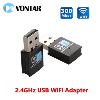 USB Wifi Adapter 150M 300M 2.4G USB Mini Wifi Receiver Dongle 802.11b/n/g Ethernet Network Card For Computer Desktop
