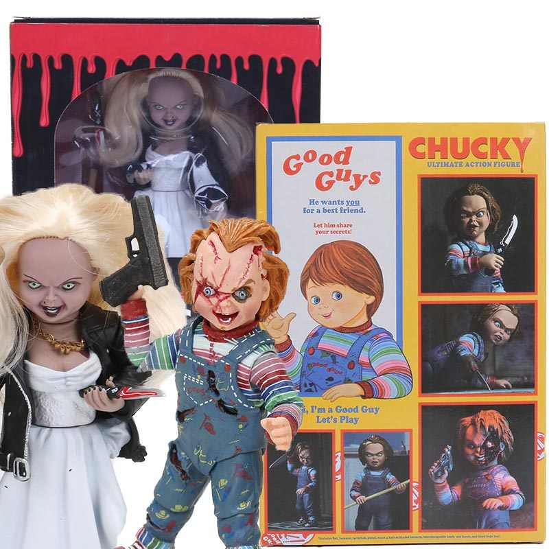 NECA Childs Play GOEDEN Ultieme CHUCKY Horror Bruid van Chucky Doll PVC Figure Collectible Model Toy