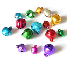 100pcs Colored Small Jingle Bells Merry Christmas Decorations Ornaments for Home Jewellery Xmas Cristmas Tree 6mm 2016 New Year(China)
