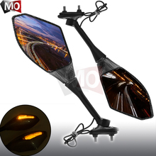 Motorcycle Rearview Mirrors LED Turn Signals scooter accessories For Honda X-ADV Hornet 600 900 CBR R cafe racer