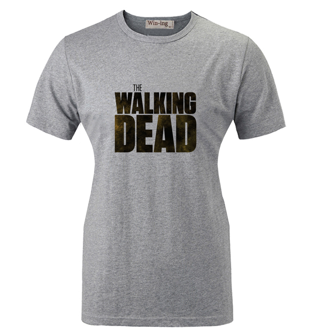 Summer Fashion Casual Cotton T shirt Punk Style The Walking Dead Zombies Graphic Women Girl Short Sleeves T-shirt Tops
