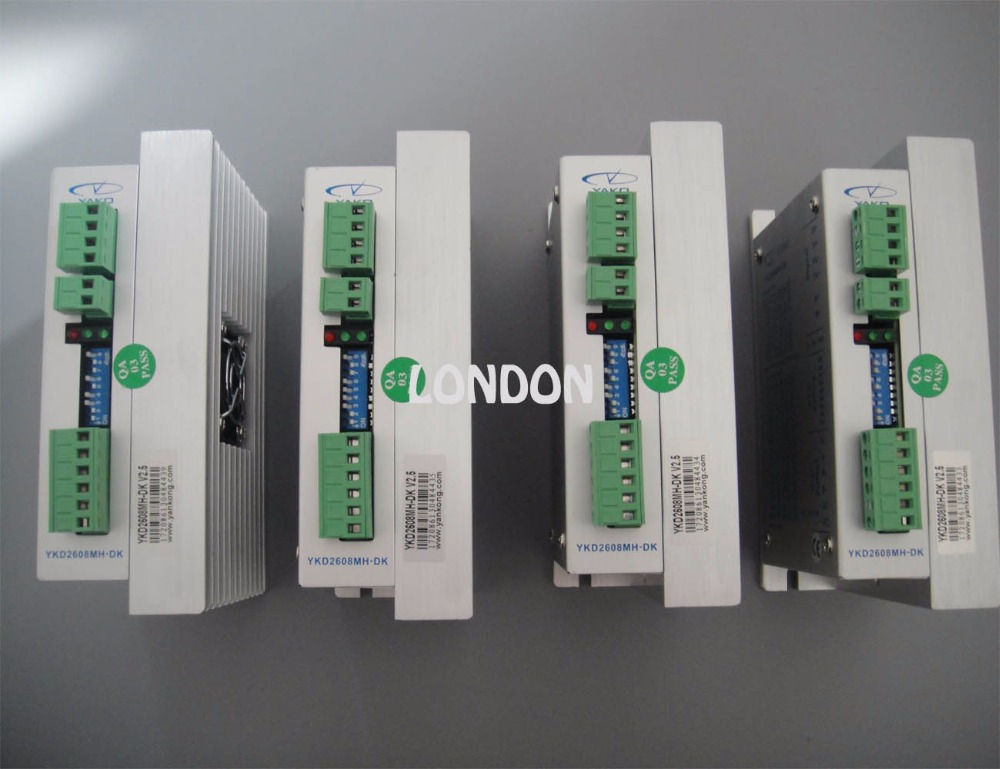 4 pieces  YAKO brand cnc machine stepper motor diver YKD2608MH-DK CNC router step motor dc stepper motor driver yako brand ykb2608mg h for cnc router