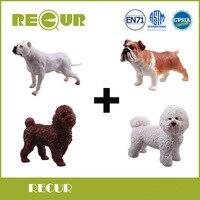 4 Pz/lotto Ripetono Giocattoli Pet Dog Fattoria Degli Animali Modello di Alta Simulazione PVC Dipinta A Mano Figure di Animali Peluche Regalo Di Natale Per I Bambini