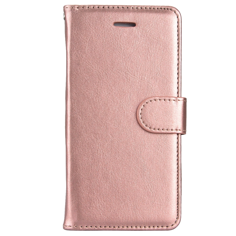 Yokata Luxury Flip Leather Case For Huawei P8 Lite Case Wallet magnet with Rope Coque rose Gold card hold degree 360 protection