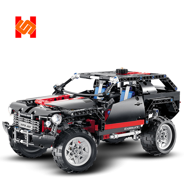 DECOOL 3341 Compatible Legoing 8081 Technic Motor Extreme Cruiser SUV 589pcs Racing Car Model Building Block Christmas Toys