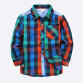 New 2016 spring autumn children's baby boys shirts high quality brand boys plaid shirts kids tops tees fashion boys shirts