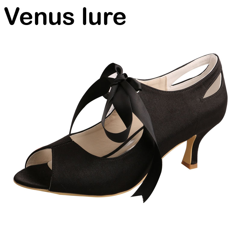 Us 39 05 15 Off Venus Lure Women Black P Toe Mary Jane Wedding Dress Shoes Prom Mid Heel In S Pumps From On Aliexpress
