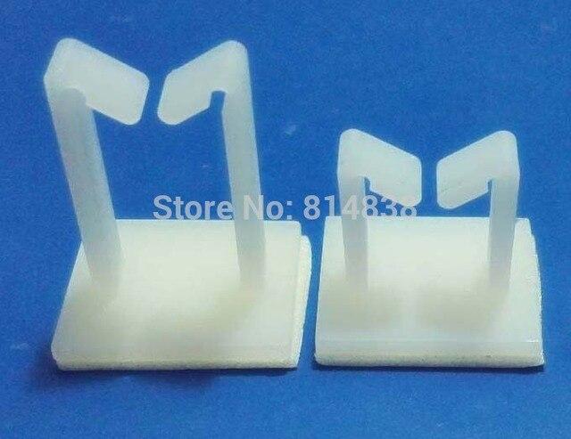 WT 1 White Nylon Plastic Self Adhesive Tie Mount Wire Saddle Side ...