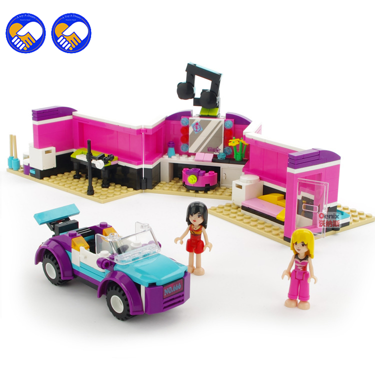A toy A dream 335pcs COGO 14529 Dream Girl Educational Building Blocks Toys For Children Kids Gifts Mini Fashion Car With Lepin cogo girls educational building blocks toys for children kids gifts boat ship moto tree yacht compatible with legoe