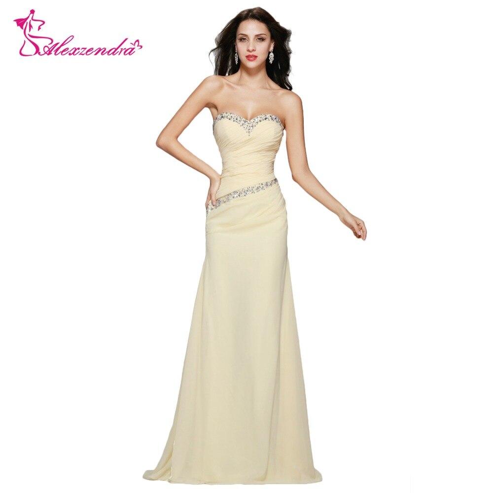 Alexzendra Beads Sweetheart Mermaid Dress Chiffon Long Prom Dresses ...