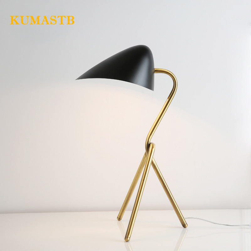 Modern table lamps black lampshade gold tripod stand table - Black table lamps for living room ...