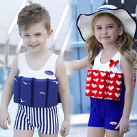 2018 Kids Baby Swimwear Suit Summer 1 10T Cute One Piece Kid Beach Casual Swimsuit Children Boys Girls Buoyant Swimming Clothes