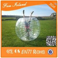 Free Shipping 1.0mm TPU 1.2m Diameter Kids Inflatable Bumper Ball / Bubble Football Sport Games