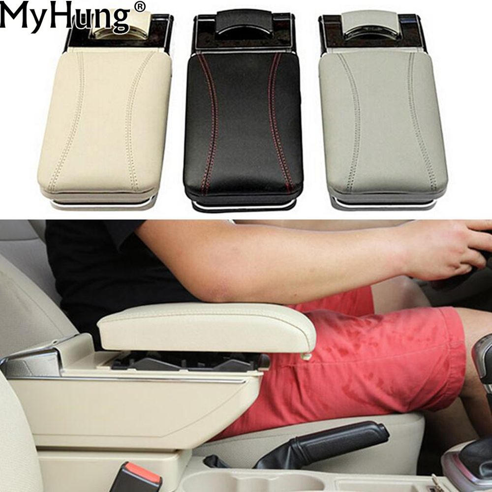 Car Armrest Box Central Store Content Box Products Armrest Storage Center Console Accessories For Ford ECOSPORT 2013 2014 1pc universal leather car armrest central store content storage box with cup holder center console armrests free shipping