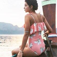 Off Shoulder Bikini Women Ruffles Bathing Suit