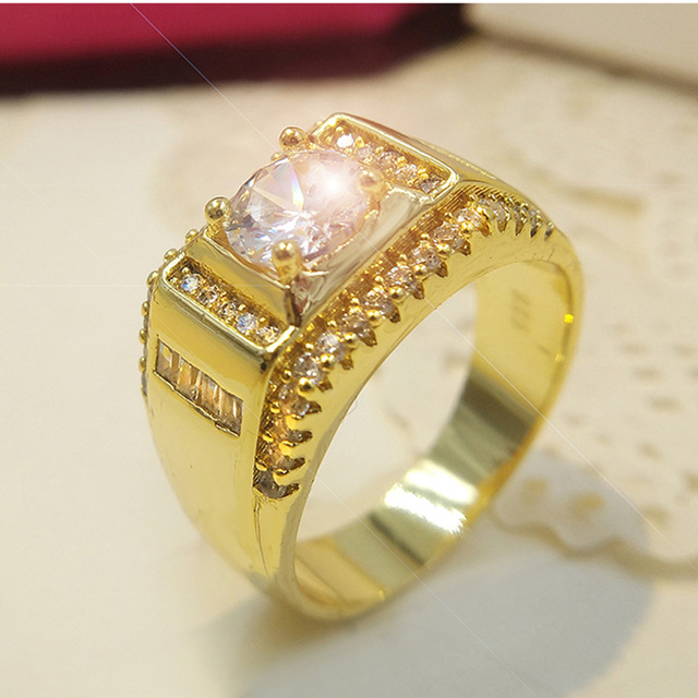 High Quality Vintage Mens Signet Rings With Stone CZ