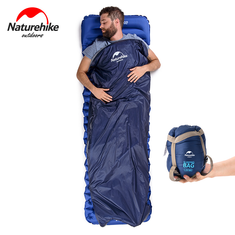 NH NatureHike Mini Ultralight Sleeping Bag Outdoor Camping Trip Travel Bag Hiking Camping Equipment Portable Cotton sleeping bag naturehike outdoor travel camping storage bag folding luggage bag organizer with wheels travel kits tent sleeping bag set bag