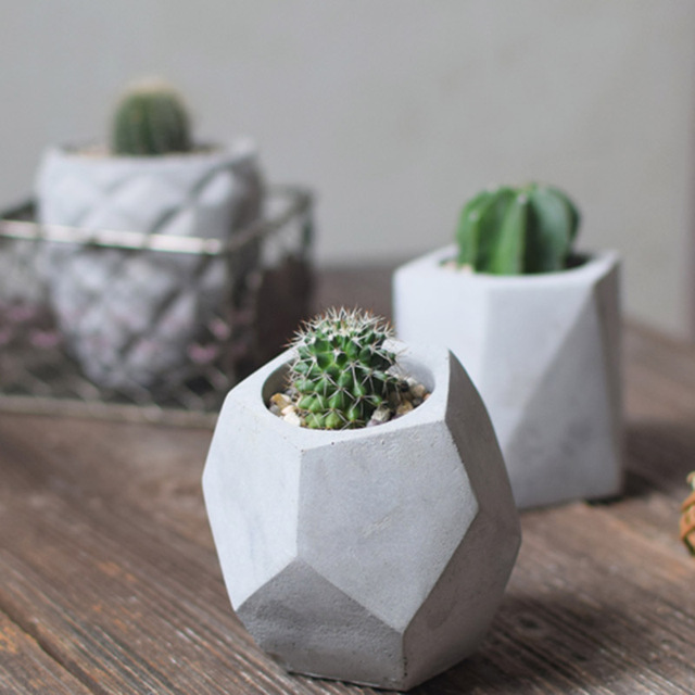 Pinkmore Concrete Planter Molds For Sale 3d Geometric Flower Pot