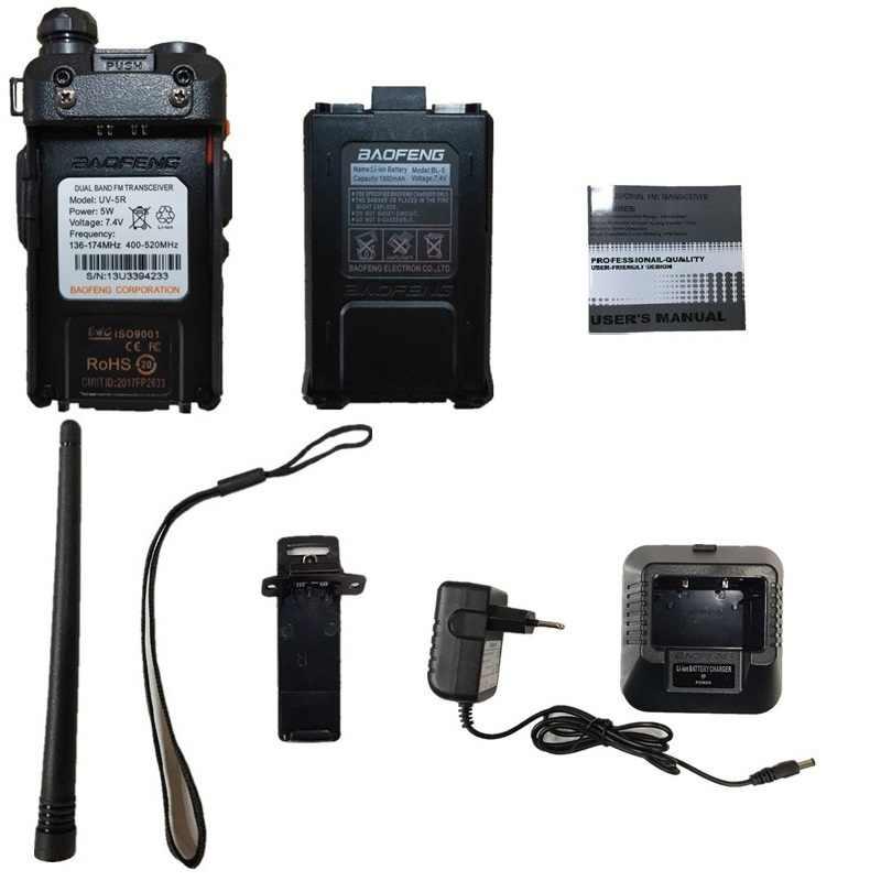 1 pièce Baofeng UV-5R talkie-walkie UHF VHF Portable CB jambon Radio Station Amateur Police Scanner Radio Intercome HF émetteur-récepteur UV5R