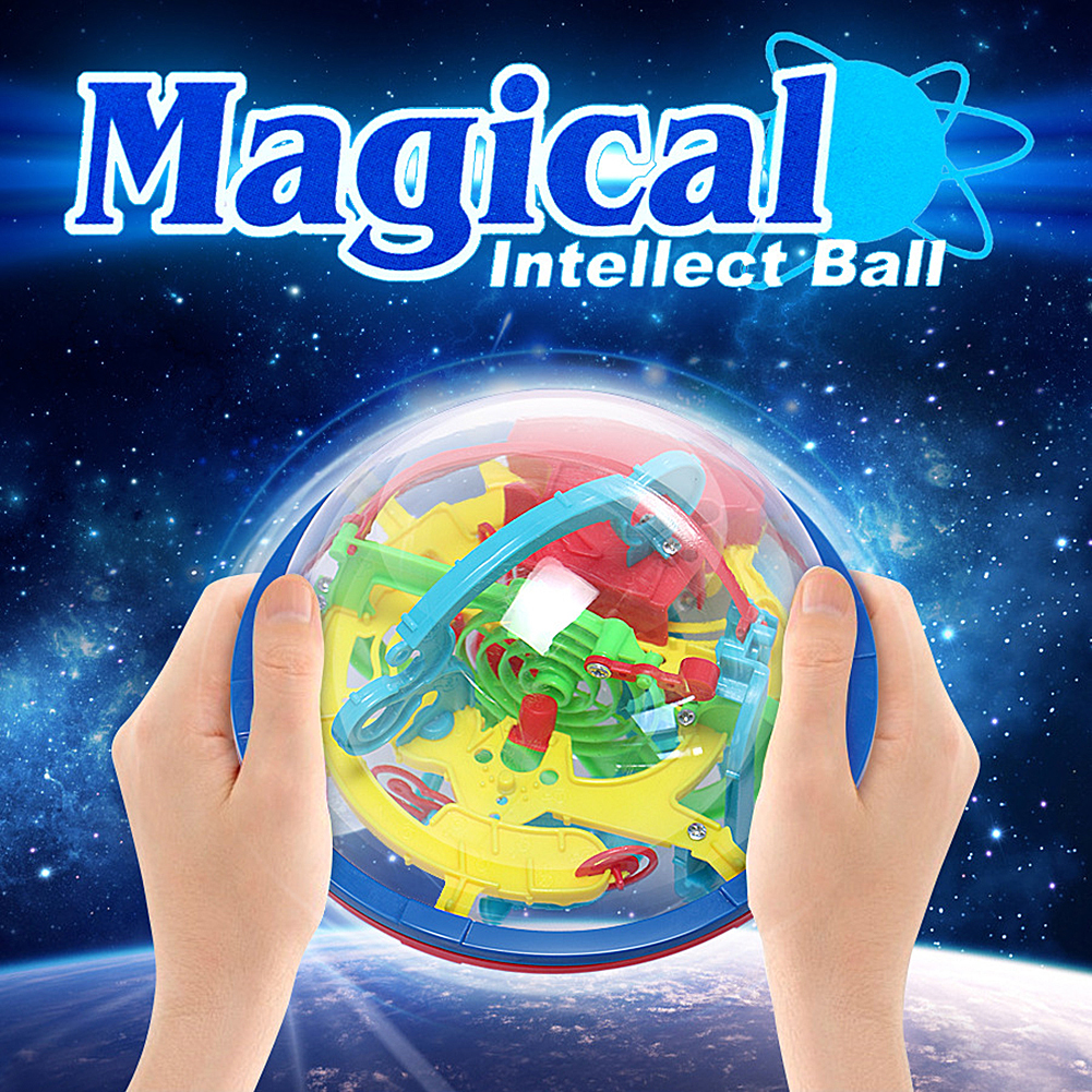 3D Toy Balls Maze Puzzle Kids Children Spherical Maze Intellect Ball Balance Game And Puzzle Toy Gift Playing Ball