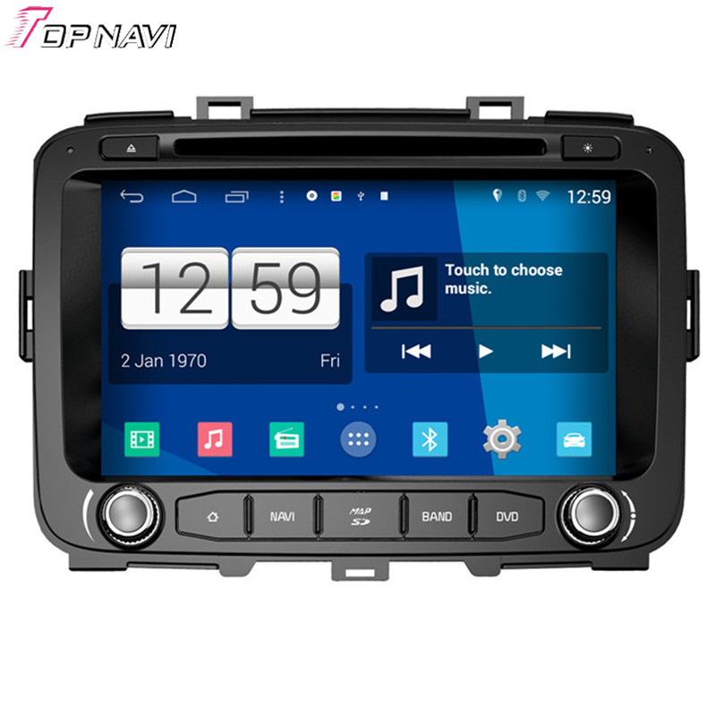 Topnavi Quad Core S160 Android 4 4 Car DVD Multimedia Player for 2013 Carens GPS Audio