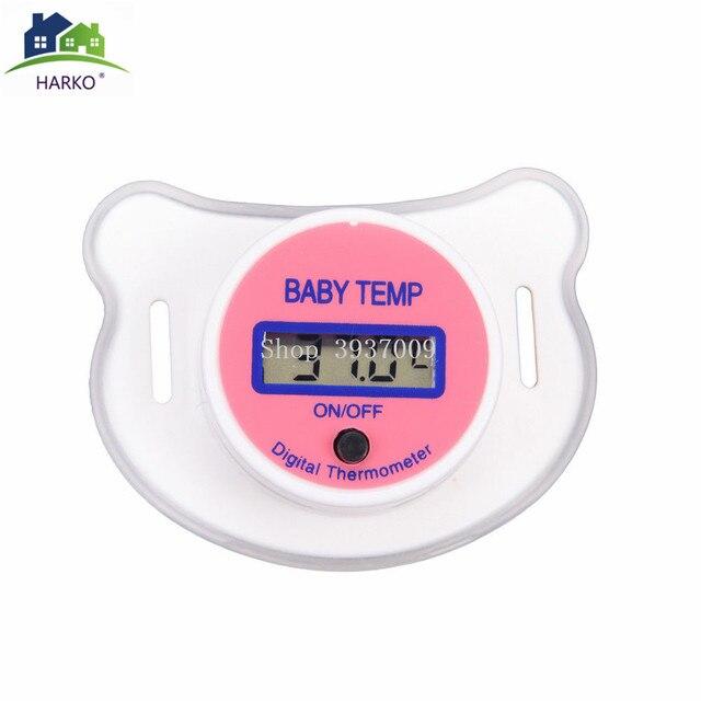 Termómetro Digital para pezón para bebé chupete de silicona médico termómetro LCD para cuidado de la salud para niños 5