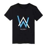 Popular Alan Walker Singer Short Sleeve Tee Shirt Men Cotton Summer Tshirt Men Brand World Famous