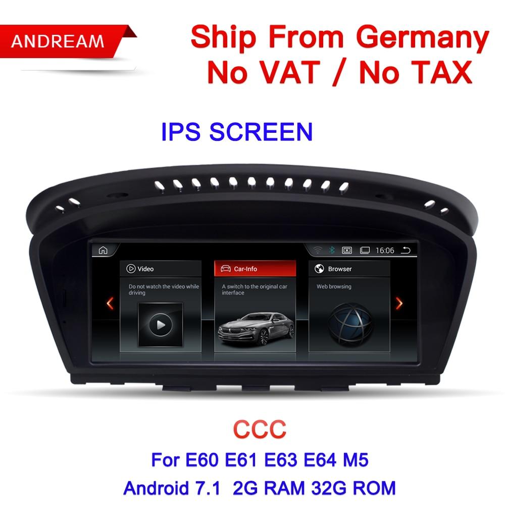 8.8 Android Écran Véhicule lecteur multimédia Pour BMW Série 5 E60 E61 E62 gps navigation Wifi Allemagne Livraison Gratuite EW963B-CCC