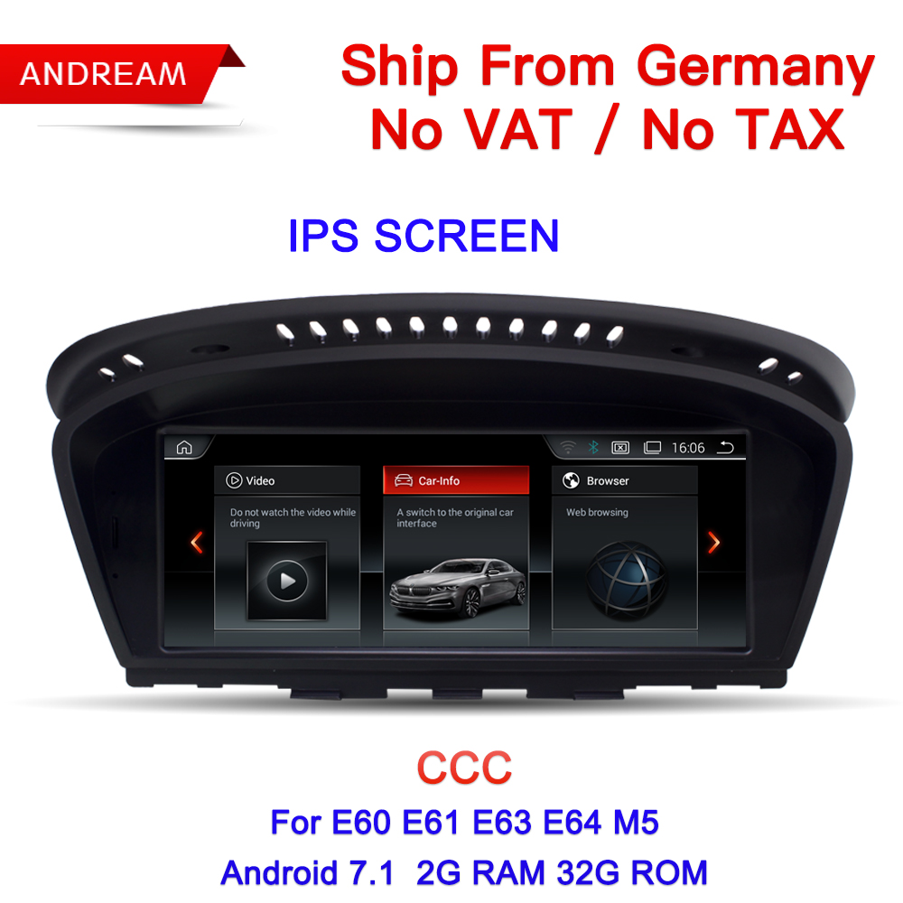 8.8 Android Screen Vehicle multimedia player For BMW Series 5 E60 E61 E62 gps navigation Wifi Germany Free Shipping EW963B-CCC
