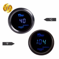 2 52mm Water Temp Gauge 40 120 Centigrade Temperature Blue LED Auto Meter Black Shell Digital