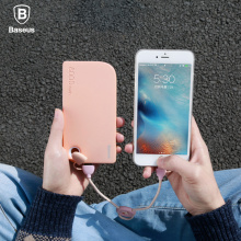 Baseus Brand Dual Port USB power bank Universal Mobile Phone External  powerbank 8000mAh For iphone 5s 6 7 xiaomi  Battery Pack