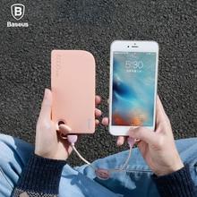 Baseus Brand Dual Port USB power bank Universal Mobile Phone External  powerbank 8000mAh For iphone 5s 6 7 xiaomi  Battery Pack amoi x118 10400mah usb port external li ion mobile power bank white