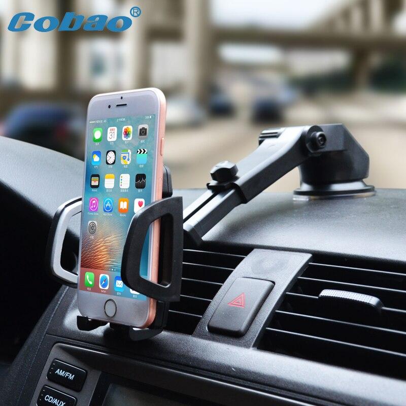 Teléfono Móvil del coche de cobao soporte Dashboard parabrisas Universal 360 ajustable teléfono titular del coche para el iPhone 7 6 5 4 huawei