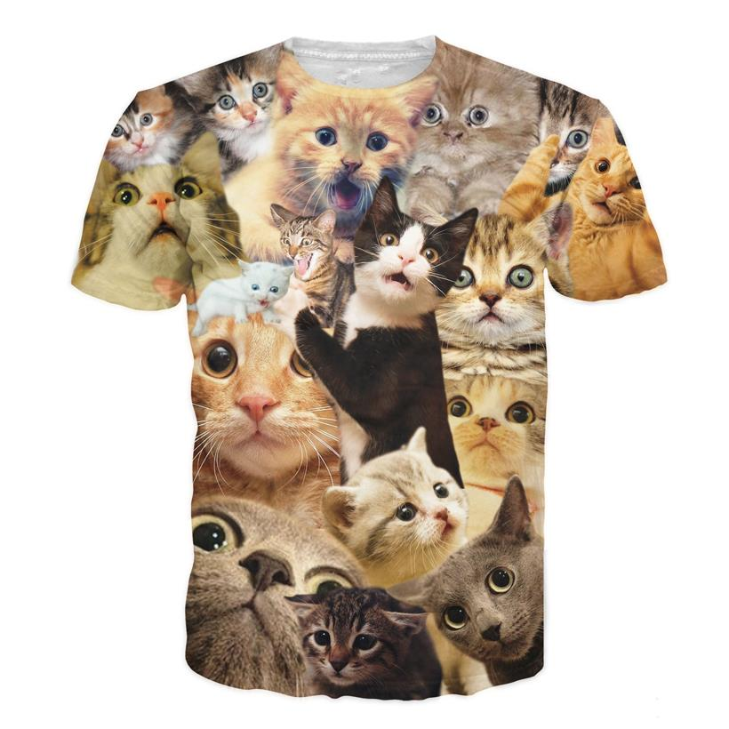 3d cat t shirt