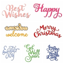Bold Words Letters Metal Cutting Dies Stencils For DIY Scrapbooking Decorative Embossing Craft Die Template New 2019