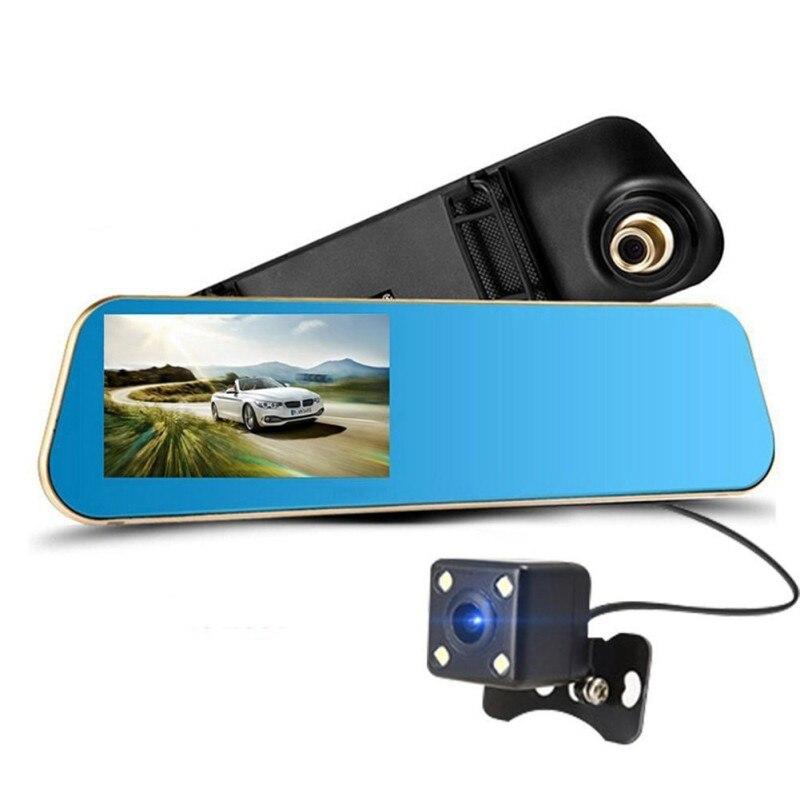 Car Dvr Dash Camera Rear View Mirror With Dual Lens Full HD 1080P Camera Night Vision Dash Cam Dvr Digital Video Recorder