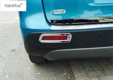 ABS ! Accessories For Suzuki Vitara Escudo 2015 2016 2017 Rear Trunk Fog Light Lamp Bezel Protector Molding Cover Kit Trim 2 Pcs bar guards door body moulding cover trim for suzuki vitara escudo 2015 2016 2017