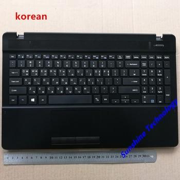 Korean layout new laptop keyboard with touchpad palmrest for samsung 370B5L 371B5L 370E5LKR BA98-00714B