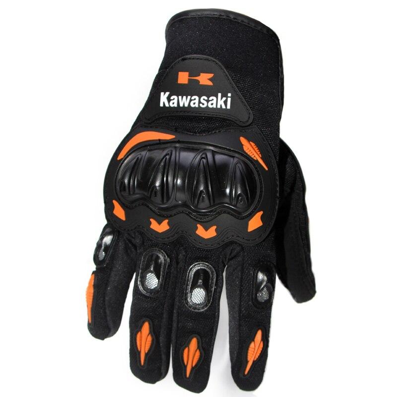 <font><b>Kawasaki</b></font> Full Finger Guantes <font><b>Motorcycle</b></font> <font><b>Gloves</b></font> Red Orange Colors Motorbike Motocross Motos Protective Gears <font><b>Glove</b></font> M - XXL Size