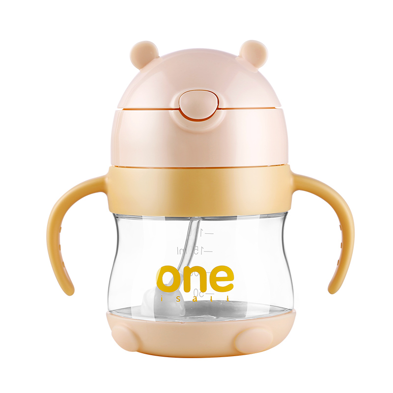 ONE 320 ml baby drinking Bottle feeding for children baby Feeding water with handle anti-fall gravity ball drinking Glass