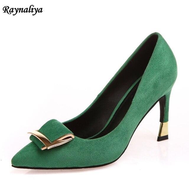 d5b776e197 2018 New High Heels Women Pumps Thin Heel Classic Green Red Black Beige  Sexy Prom Wedding Pointed Toe Shoes 9CM XZL-B0049