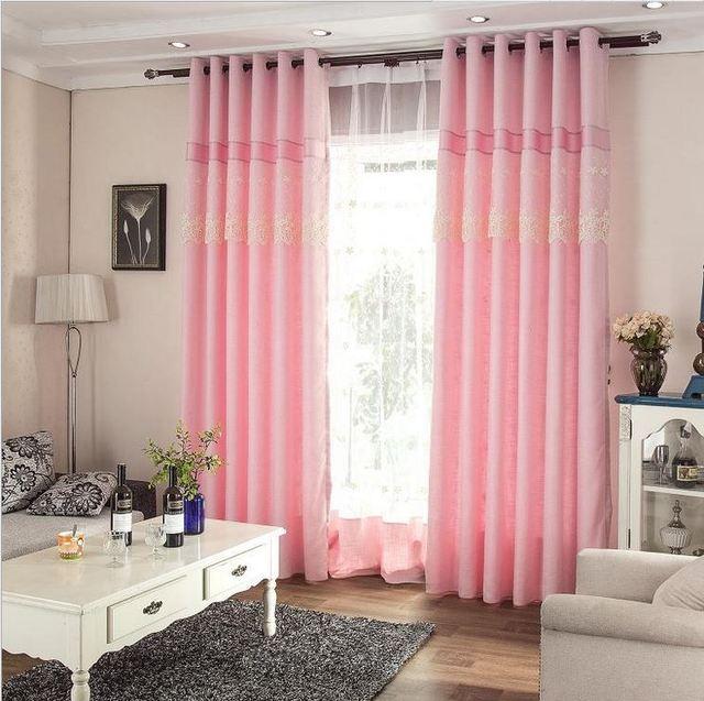 Romantische elegante patchwork kant pure kleur venster ...